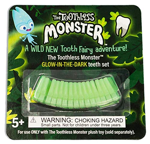 The Toothless Monster - A Wild, New Tooth Fairy Tradition - Glow-in-The-Dark Teeth Set]()