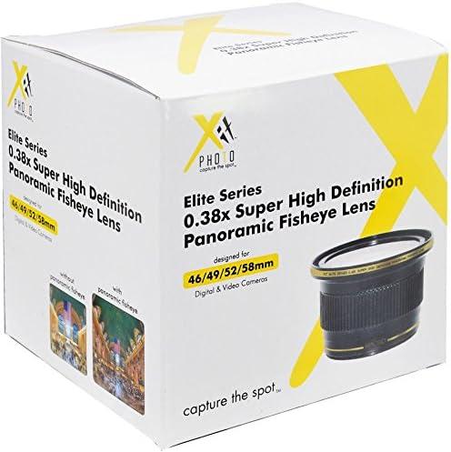 Xit 0.38x Wide Panoramic Fisheye Lens for Nikon D5500 D5300 D5200 D5100 D5000 D3300 D3200 D3100 D3000