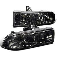 Chevy S10 Pickup Blazer Crystal Smoke Tint Headlights Head Lamps