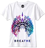 PHUNKZ T-SHIRT BREATHE LUNGS TREE OF LIKE HAMSA ESOTERIK YOGA HAND DER FATIMA, XL