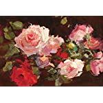 LIWALLPAPER-Carta-Da-Parati-3D-Fotomurali-Rose-Rosa-Foglie-Verdi-Camera-da-Letto-Decorazione-da-Muro-XXL-Poster-Design-Carta-per-pareti-200cmx140cm