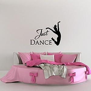 Just Dance Wall Decal Quote  Ballet Dancer Wall Decal Stickers Dance Studio  Decor  Girl Wall Decals  Dance Wall Decor Teacher Gifts Q269