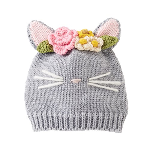 - Mud Pie Baby Girls' Seasonal Knit Hat, cat Whiskers, 0-12 MOS
