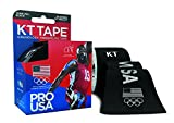 KT Tape PRO Synthetic Kinesiology Sports Tape, Water Resistant and Breathable, 20 Precut 10 Inch Strips, Team USA Olympic Edition, Black (Packaging may vary)