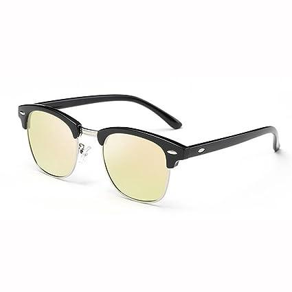 WX xin Marco Gafas De Sol, Moda Sra Circular Protección Polarizada UV400 - Marco De