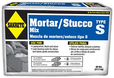 - Sakrete 65300024-RDC04 60 lbs. Type S High Strength Mortar Mix