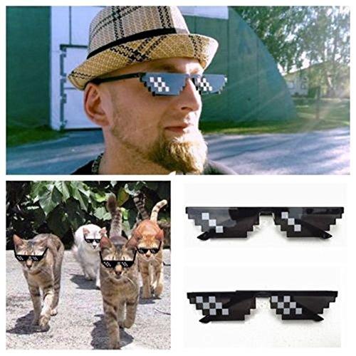 Femme et Thug de With soleil It Lunettes Sunenjoy Pixel Eyewear Cool Mosaïque Lunettes Bit A de Unisexe Deal 8 Mode Pour Soleil Homme Life Drôles twtAZqTx