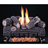 Rasmussen 24 Inch Chillbuster Gas Log Set With Vent Free Propane Chillbuster Dual Burner - Manual Safety Pilot