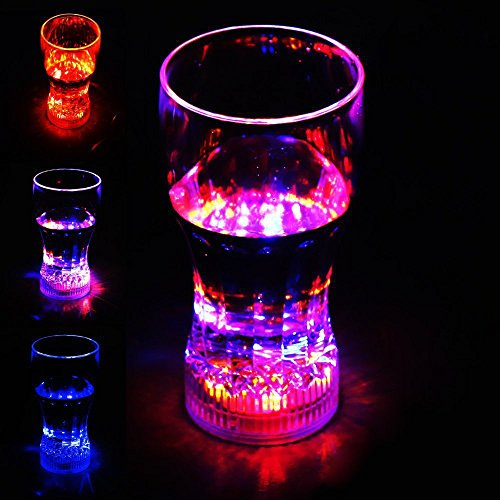 ZITRADES LED Light Up Flashing Cola Cups Glass Ideal for party xmas bars clubs BY (Led Cup)
