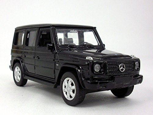 MERCEDES-BENZ G-Class (G500) Wagon 1/32 Scale Diecast Metal Model - Black (Model Diecast Wagon Car)