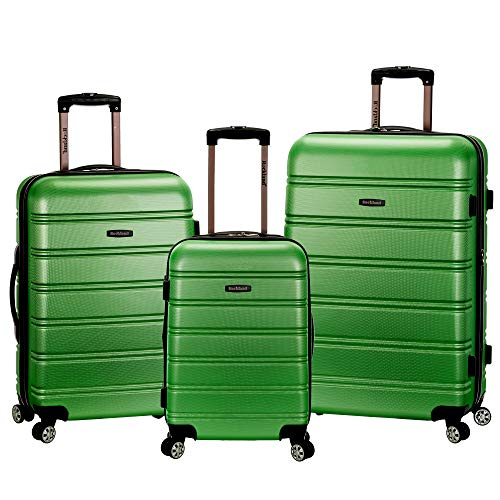 Rockland Melbourne 3 Pc Abs Luggage Set, Green -