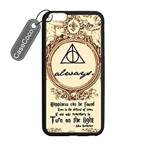 diy zhengCASECOCO(TM) iphone 5/5s Case, Harry Potter Case for iphone 5/5s (5.5-) - Protective Hard Back / Black Rubber Sides