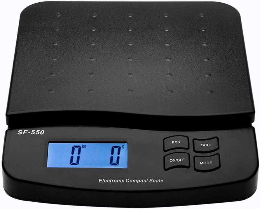 High Precision LCD Digital Postal Shipping Scale, Precision Food Scale with AA Battery, Black