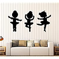 Art of Decals Amazing Home Decor-Large Vinyl Wall Decal Ballet Dancers Girls Ballerina Stickers Mural Made in The USA Removable