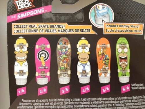 Tech Deck - The Simpsons - Finger Skateboards - Complete Set 1-6