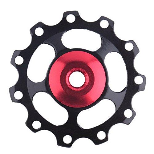 10 Mm Derailleur Hanger (Bike Derailleurs,ZIYUO 11Tooth MTB steel Bearing Jockey Wheel Pulley Road Bicycle Bike Derailleur for mountain bike (Black))