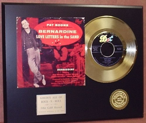 Pat Boone 24Kt 45 Gold Record & Reproduction Sleeve Art LTD Edition - Outlets Boone