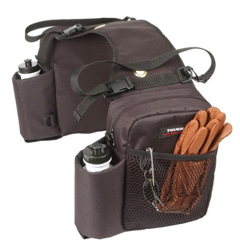 Tough-1 Nylon Water Bottle / Gear Carrier Saddle Bag – Brown, Outdoor Stuffs