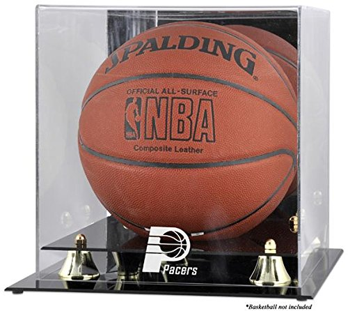 Mounted Memories Indiana Pacers Golden Classic Logo Basketball Display Case