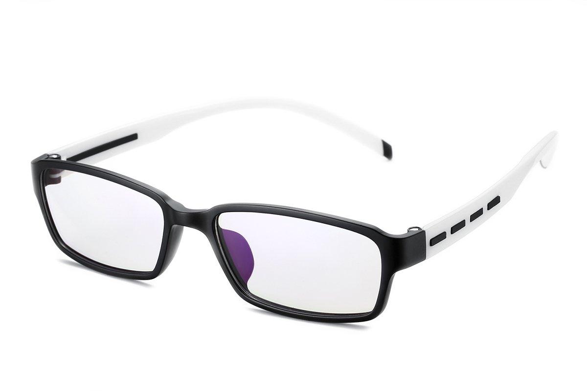 PenSee Fashion TR90 Horned Rim Rectangular Eye Glasses Frames Clear Lens by PenSee