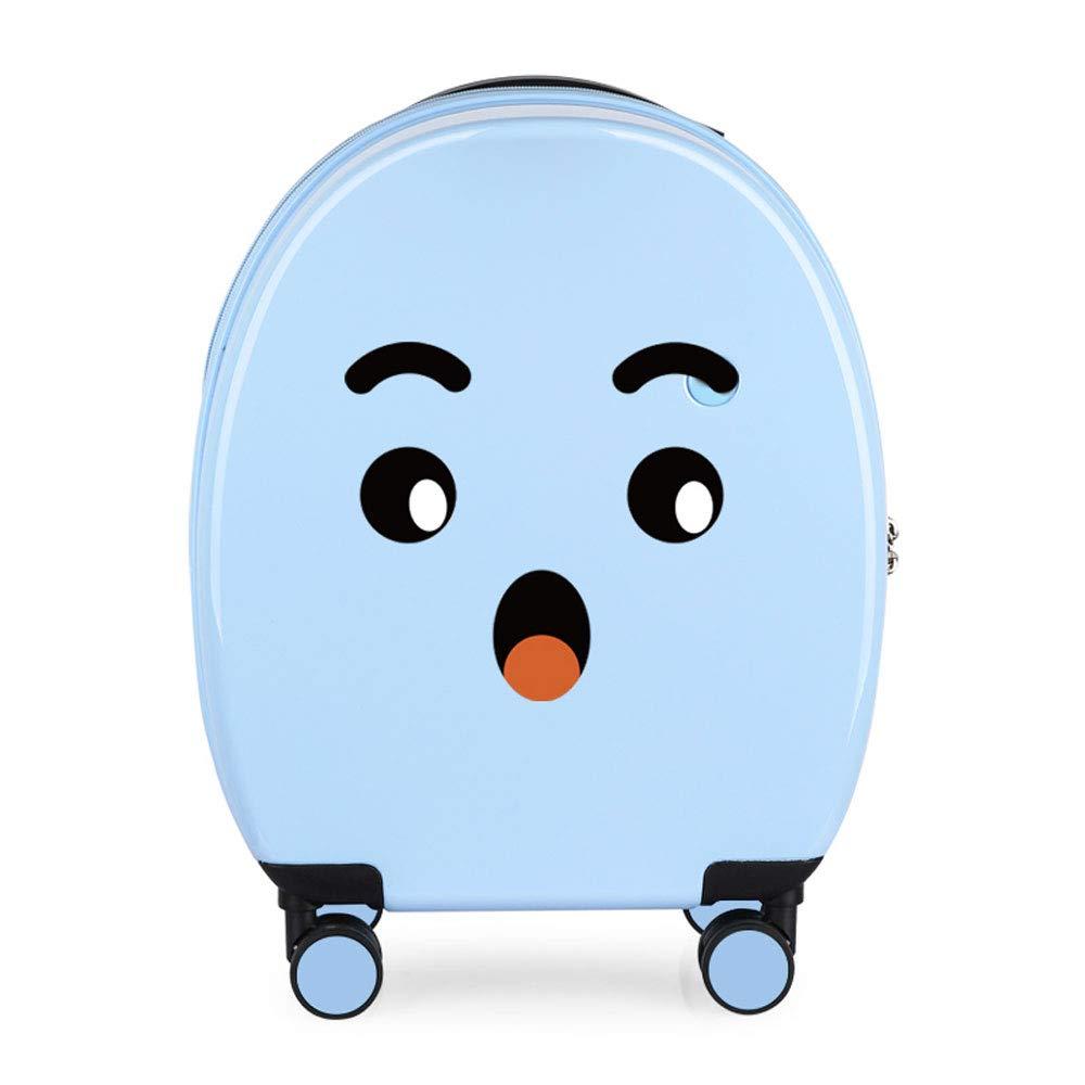 YD スーツケース トロリーケース - PC/ポリエステル、TSA税関コードロック、サイレントキャスター、スタイリッシュで美しいdiy各種多機能子供用ミニラゲッジボックス - 3色オプション /& (色 : 青, サイズ さいず : 37.5*20*44cm) B07MW1271W 青 37.5*20*44cm
