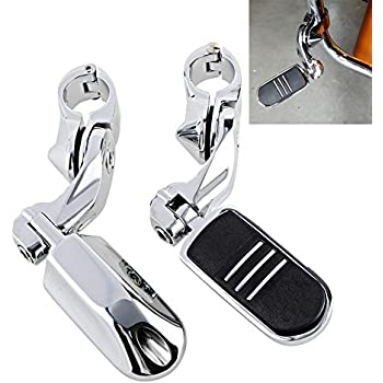 1-1//4 Highway Foot Pegs Compatible with 1997-2017 Harley Touring FLH FLT Slotted Seat 1.25 Engine Guard Adjustable Plug-In Driver Rider Backrest