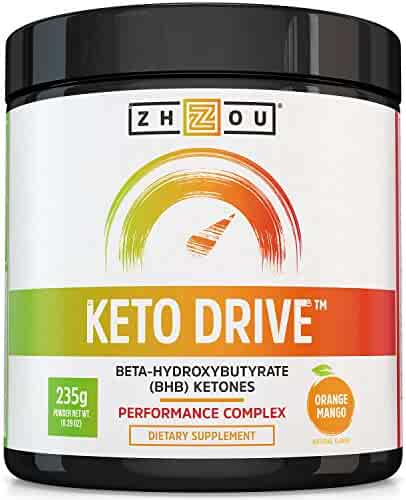 KETO DRIVE BHB Salts - Exogenous Ketone Performance Complex - Formulated for Ketosis, Energy, Focus and Fat Burn - Patented Beta-Hydroxybutyrates (Calcium, Sodium, Magnesium) - Orange Mango