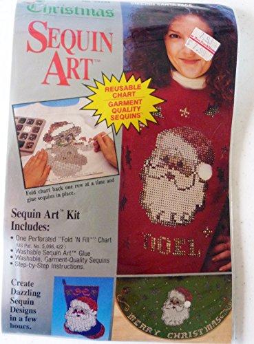 (Christmas Sequin Art Kit - Smiling Santa Face - Distlefink Designs, Inc.)
