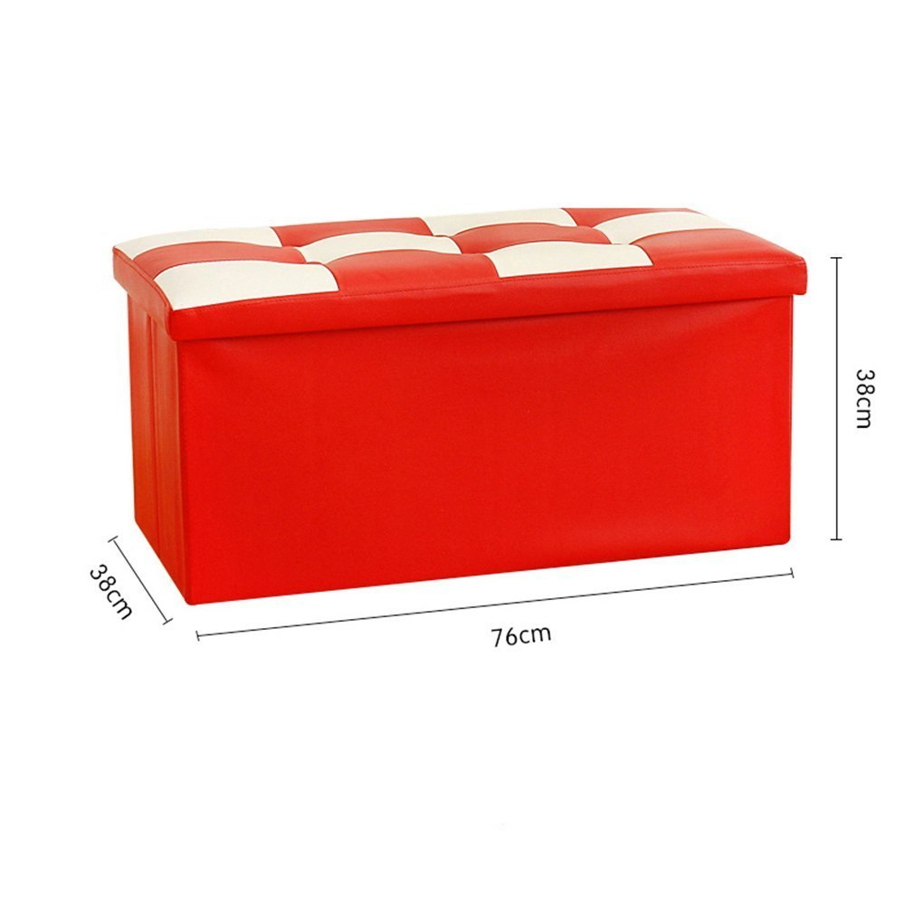 HOMEE Sofa stool- storage stool change shoe stool storage stool storage stool large finishing box foldable sofa stool can be placed for the shoe stool (color optional) --storage stool,B