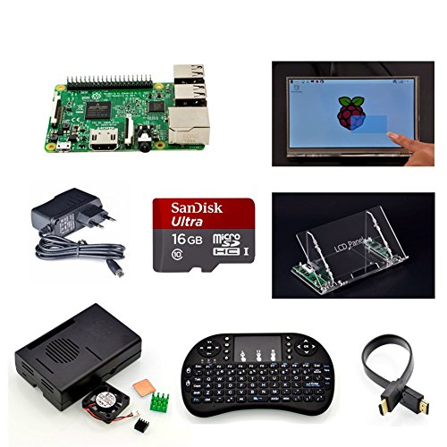 Angelelec DIY Open Sources, Raspberry Pi 3 Model B+ 7 inch Touch
