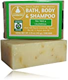 Organic Bath, Body & Face Soap Tea Tree & Calendula (Oils To Fight Acne Causing Bacteria) (1) 3.75 OZ BAR) Thick Lather & Amazing ScentNo Chemical Perfumes, Fragrances, Sulfates, or Parabens!