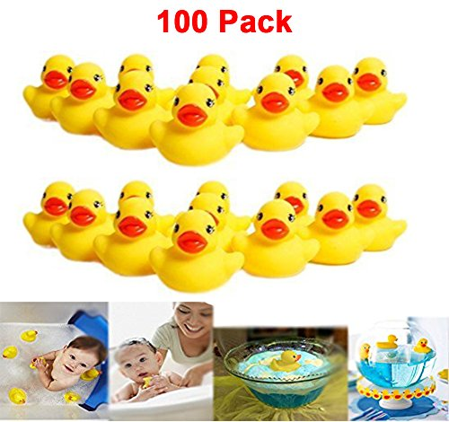 """Mini Rubber Ducks Duckie Baby Shower Birthday Party Favors (1.5"""", 100 pack)"""