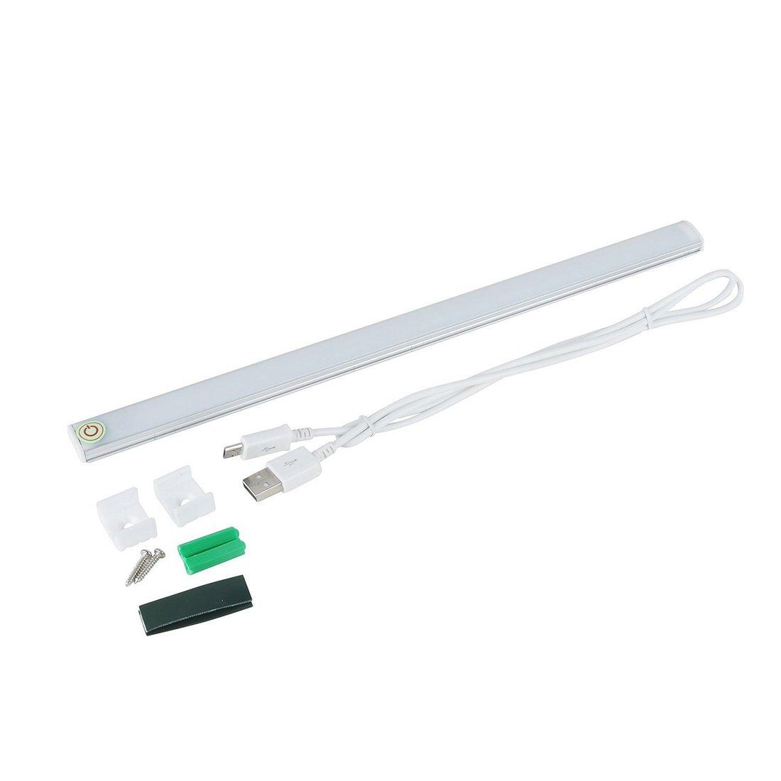 Novadeal 11.8 Inch 21-LED Closets Cabinet LED Night Light Usb Power Wireless Motion Sensing Sensor Light for Attics, Hallway, Washroom