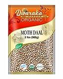 Dwaraka Organic Moth Bean Dal Lentil - USDA Organic (2 lbs / 908 g)