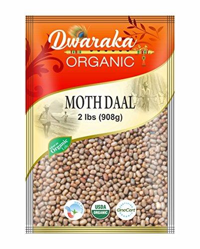 Dwaraka Organic Moth Bean Dal Lentil - USDA Organic (2 lbs / 908 g) by Dwaraka Organic