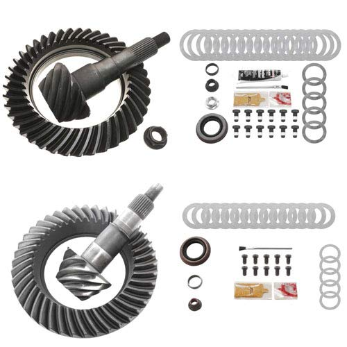 4.88 RING AND PINION GEARS & INSTALL KIT PACKAGE- COMPATIBLE WITH FORD 8.8 IFS FRONT / 9.75 REAR