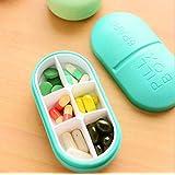 ETGtek 1pcs Portable Seal Waterproof Medicine Box for Pocket Pills Holder Container Daily Medication Pill Box