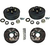 3,500 lbs. Trailer Axle Self Adjusting Electric Brake Kit 5-4.5'' Bolt Circle