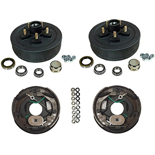 3,500 lbs. Trailer Axle Self Adjusting Electric Brake Kit 5-4.5