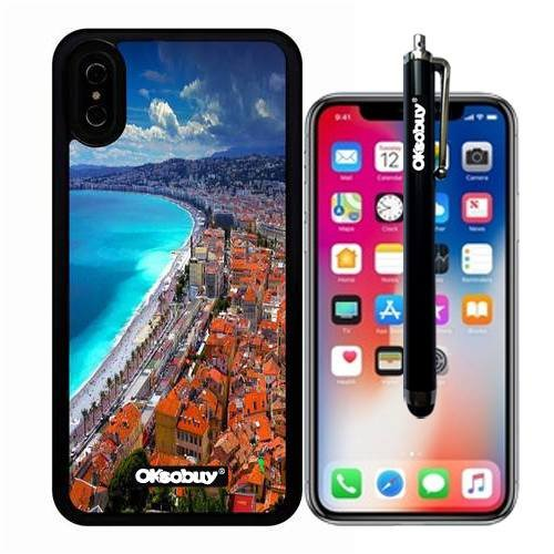 iphone X Case, Marseille Beach Case, OkSoBuy Ultra Thin Soft Silicone Case for Apple iphone X - Marseille ()