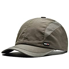 This baseball cap for men made of high quality 100% polyester, it is lightweight, breathable and soft keep you cool in sun. Ideal for baseball, golf, running, fishing, hiking, camping, travelling, hunting,surfing, gardening or any outdoor ac...