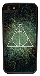 Harry Potter Deathly Hallows -Protective 2 Layer iPhone 5c Black Case - Fits iPhone 5c