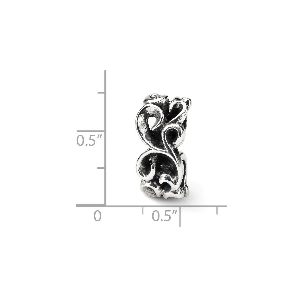 Sterling Silver Jewelry Themed Beads Solid 8.18 mm 20.00 mm Reflections SCross ll Connector Bead