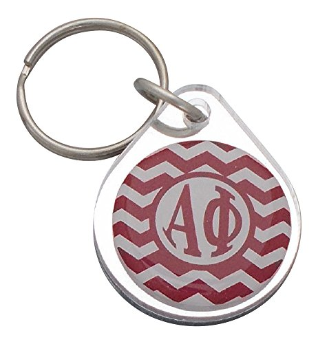 Coin Purse Phi (Alpha Phi - Chevron Keyring)