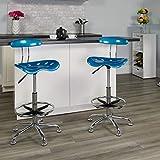 Flash Furniture Vibrant Bright Blue and Chrome