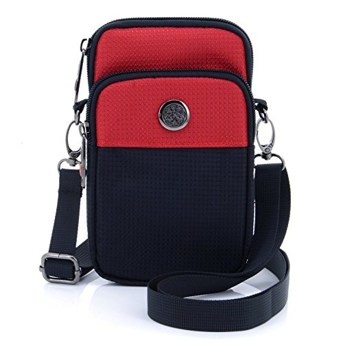 Cheap U-TIMES Casual Water Resistant Oxford Waist Wallet Bag 6″ Crossbody Shoulder Phone Pouch for iPhone 6/6S,6Plus/6S Plus,Note 5,Note 4,Galaxy S7,S7 Edge(Red)