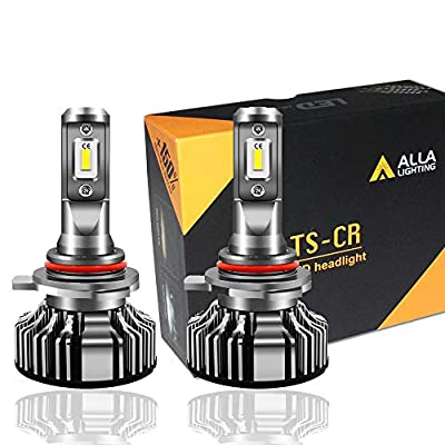 Alla Lighting 10000lm 9012 LED Headlight Bulbs Extremely Super Bright TS-CR HIR2 9012 LED Headlight Bulbs Conversion Kits 9012 Bulb, 6000K Xenon White (Set of 2)