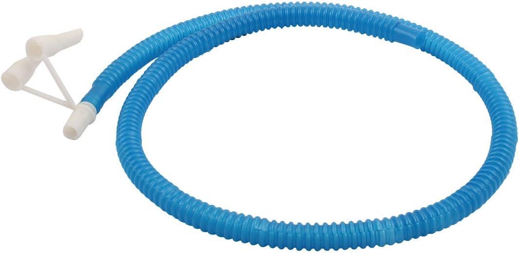 sourcing map Facile Plastique Ballon Pied Main Gonfleur Pompe Soufflet pneumatique Bleu Jaune