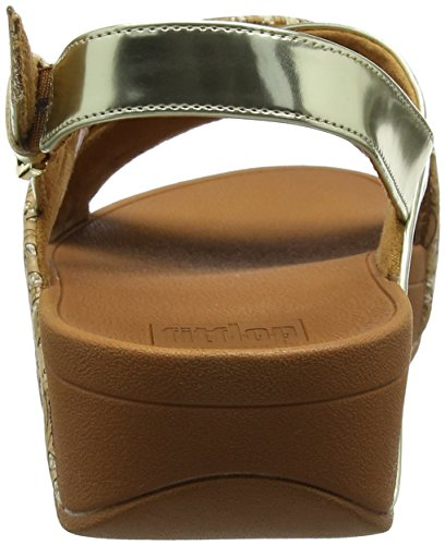 Mujer Mirror Cross Lulu Fitflop cork Sandals Back cork strap Para Sandalias 553 Multicolor gold qwxx7