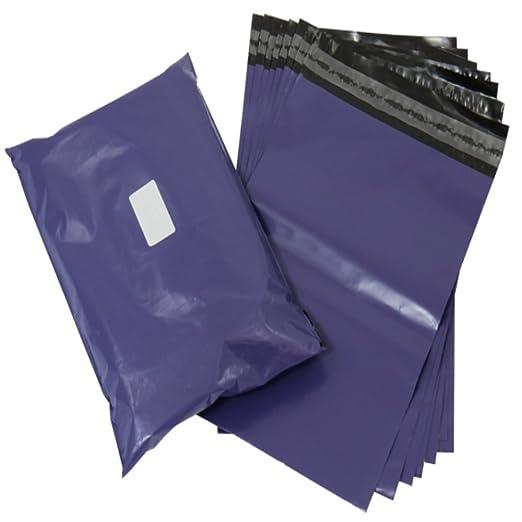 20 pequeñas bolsas de plástico color morado con cierre de ...